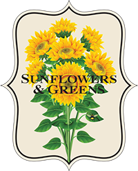 Sunflowers and Greens Logo