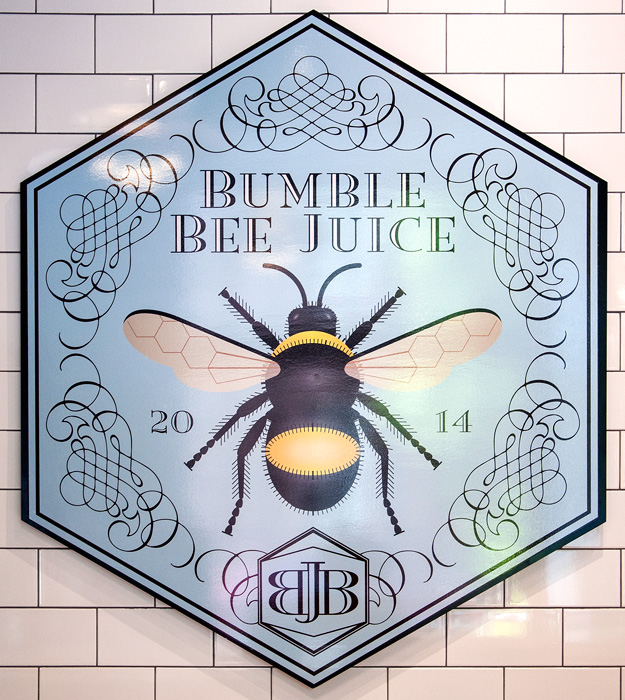Bumble Bee Juice Sign