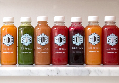 Row of juices